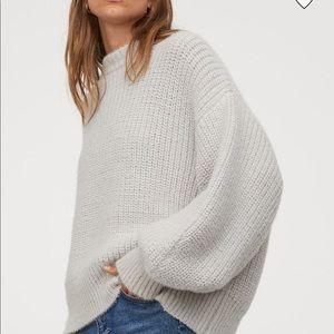 H&M Super Soft Grey Rib-Knit Sweater